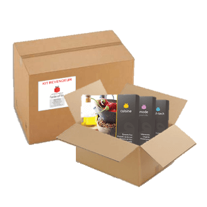 Réapprovisionnement par cartons de 18 à 30 coffrets cadeaux
