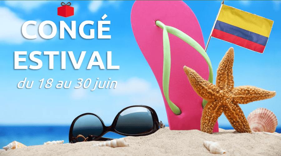Congés estival du 18 au 30 juin 2018