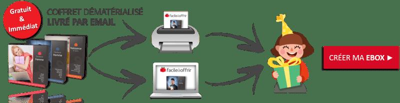 Pris par le temps ? Offrez une eBox Facile à Offrir envoyée par email ou à imprimer.