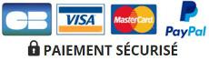 Paiement Sécurisé par Carte Bleu, Mastercard, Visa et Paypal
